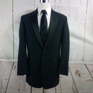 Lord West 40L 2 Button Black Tuxedo Suit Blazer